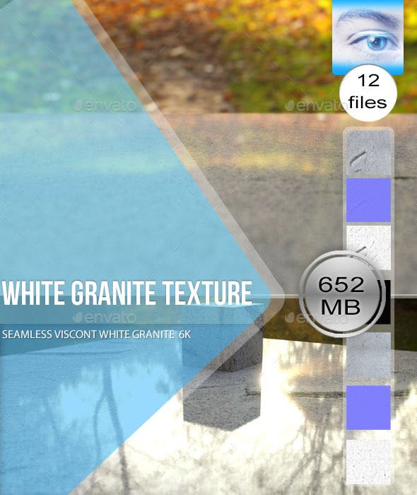 Seamless White Granite Textures 6K - 3DOcean Item for Sale