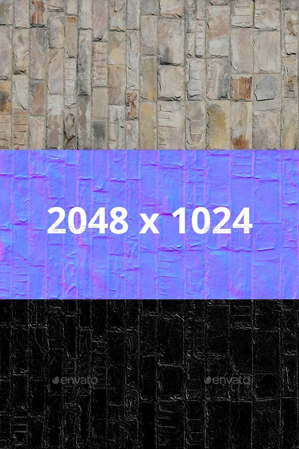 Big Decorative Seamless Stone Wall Texture - 3DOcean Item for Sale