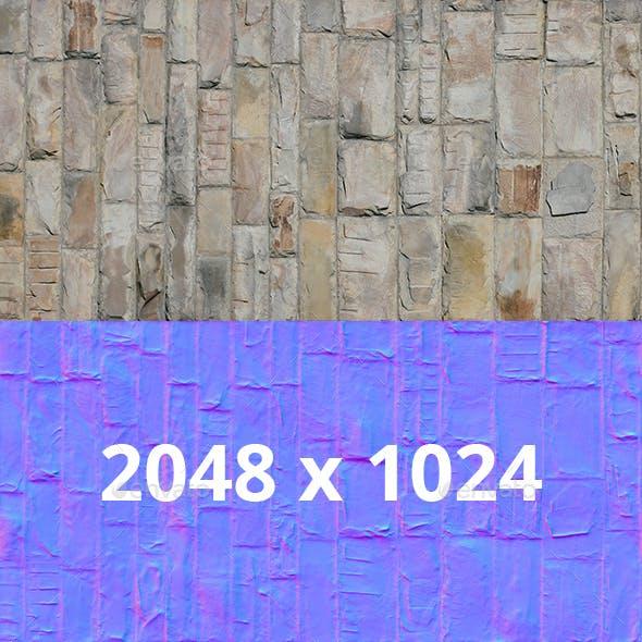 Big Decorative Seamless Stone Wall Texture