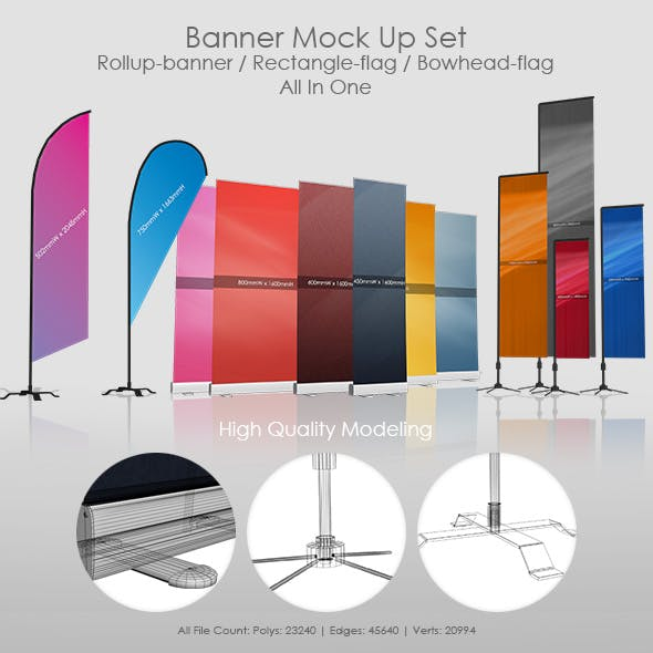 Banner Mock Up Set