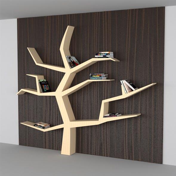 Modern Book Shelf Like Tree