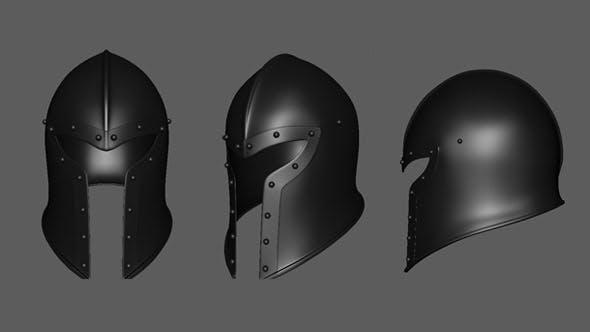 Medeival Barbut Helmet Base Mesh - 3DOcean Item for Sale