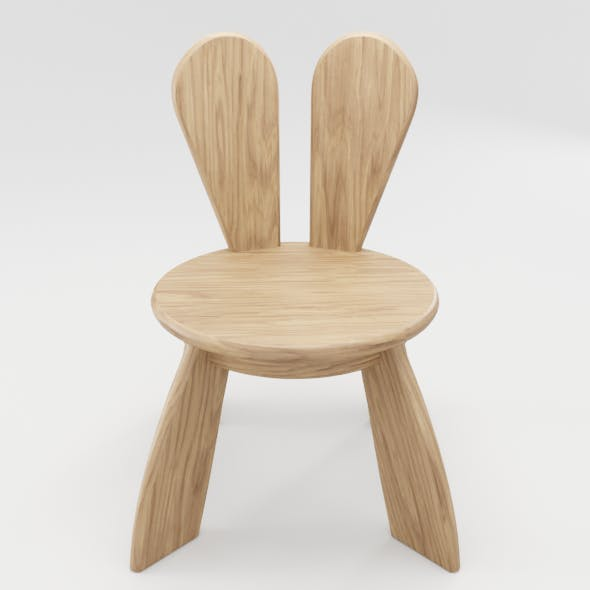 Kid Wooden Minimalistic Chair