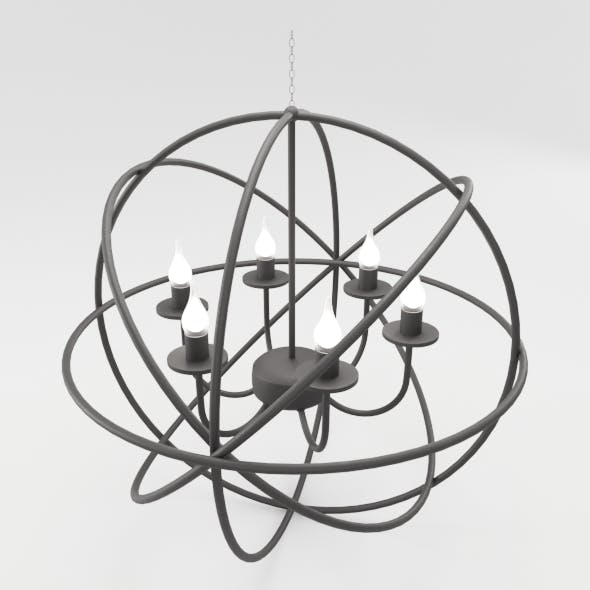 Modern Orbit Chandelier