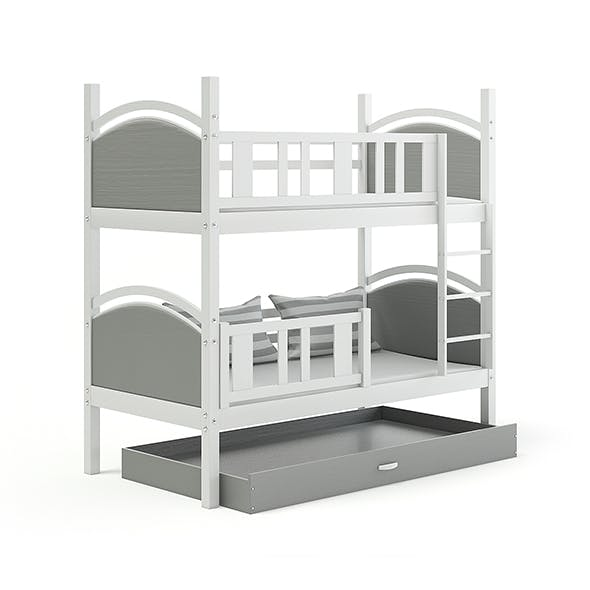 Grey Bunk Bed - 3DOcean Item for Sale