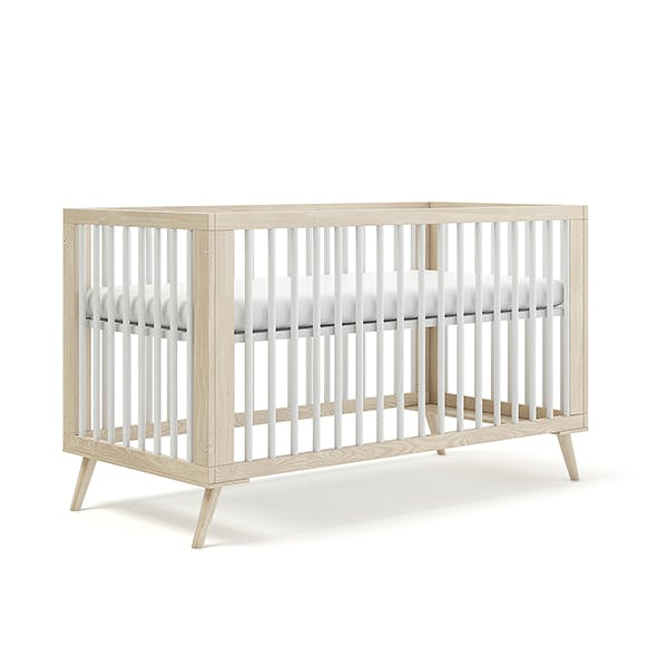 Wooden Baby Bed - 3DOcean Item for Sale