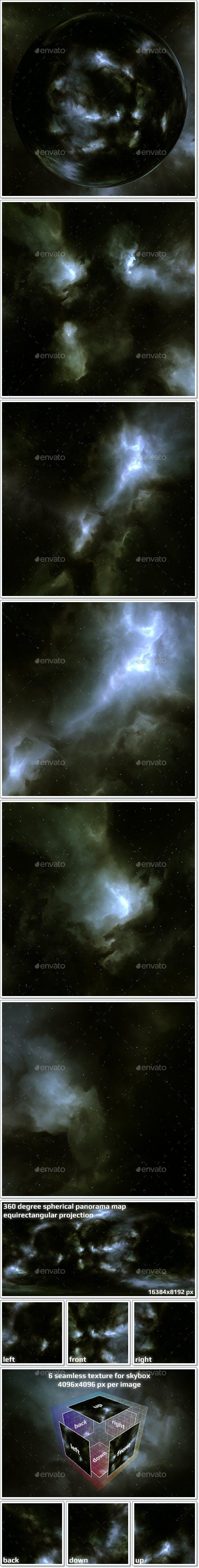 Nebula Space Environment HDRI Map 014 - 3DOcean Item for Sale