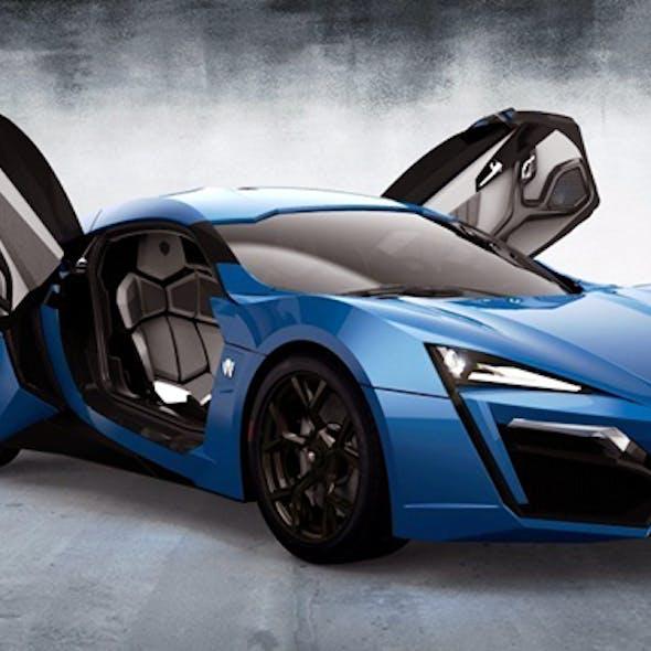 2015 Blue Laraki 3d car model
