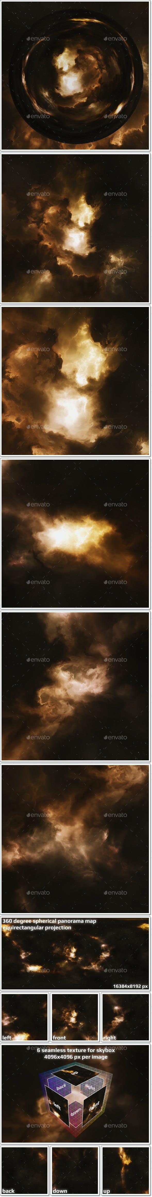 Nebula Space Environment HDRI Map 015 - 3DOcean Item for Sale