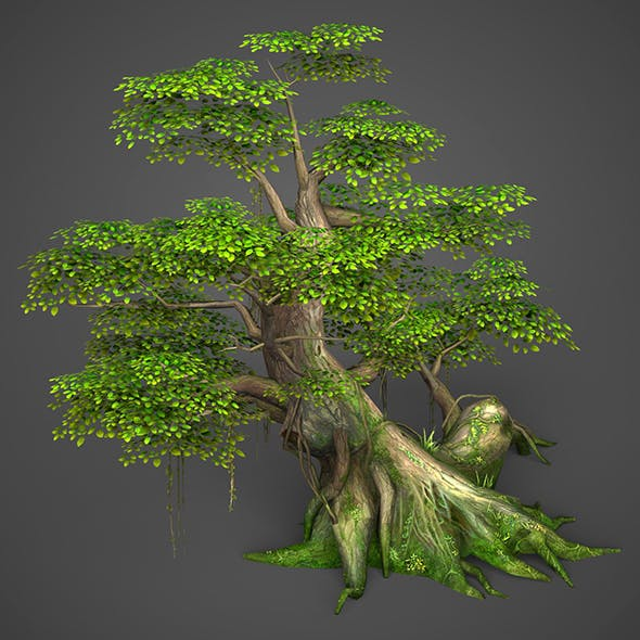 Game Ready Low Poly Tree 01 - 3DOcean Item for Sale