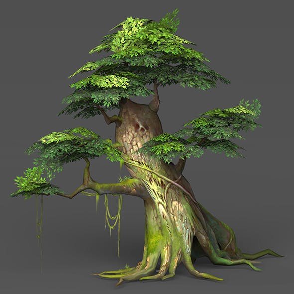 Game Ready Low Poly Tree 02