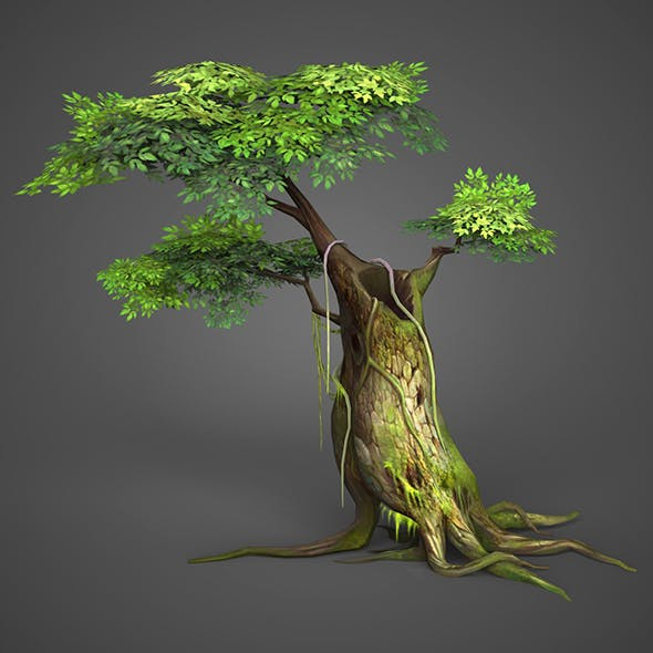 Game Ready Low Poly Tree 04 - 3DOcean Item for Sale