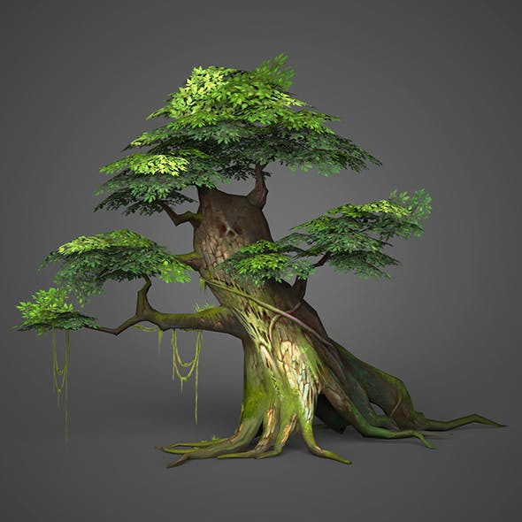 Game Ready Low Poly Tree 05 - 3DOcean Item for Sale