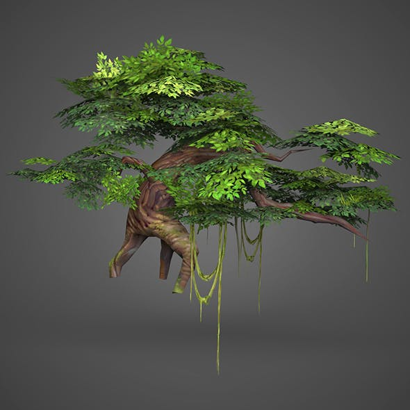 Game Ready Low Poly Tree 07 - 3DOcean Item for Sale
