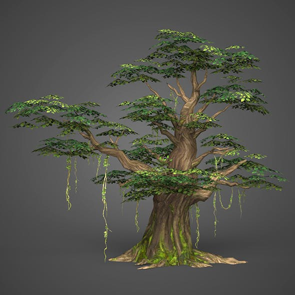 Game Ready Low Poly Tree 09 - 3DOcean Item for Sale