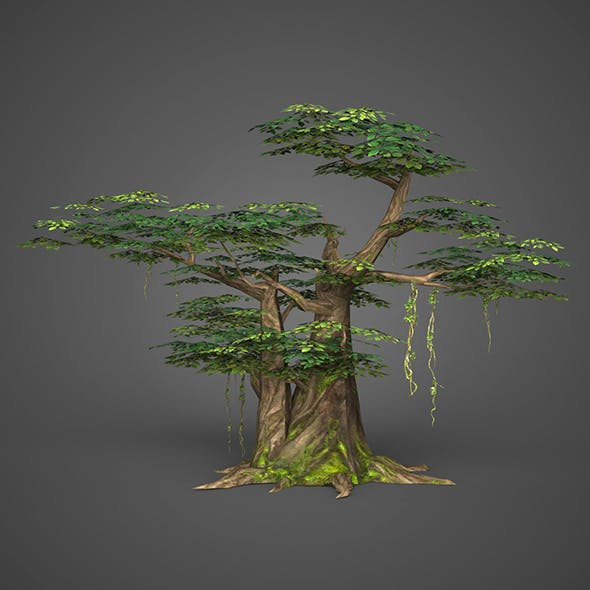 Game Ready Low Poly Tree 10 - 3DOcean Item for Sale