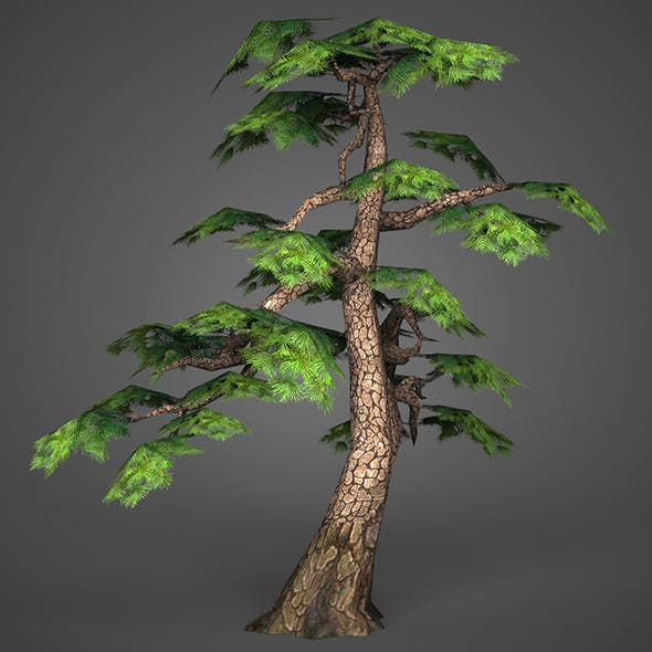 Game Ready Low Poly Tree 14 - 3DOcean Item for Sale