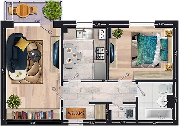 2D House Plans - 3DOcean Item for Sale