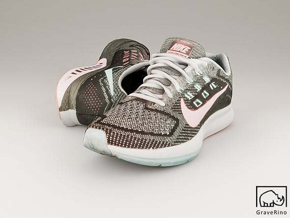 Nike Zoom Structure 18 3D Model - 3DOcean Item for Sale