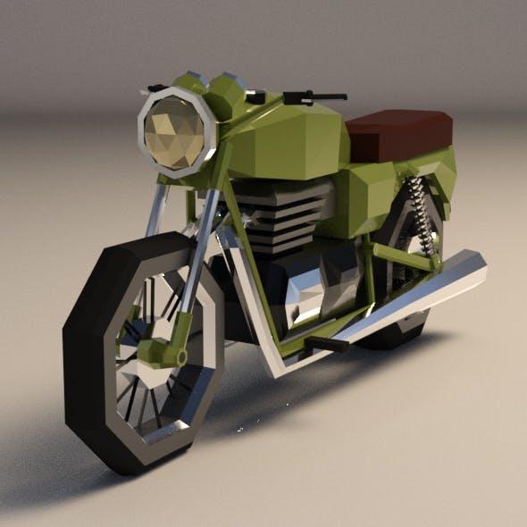 Low-Poly Cartoon Motorcycle - 3DOcean Item for Sale