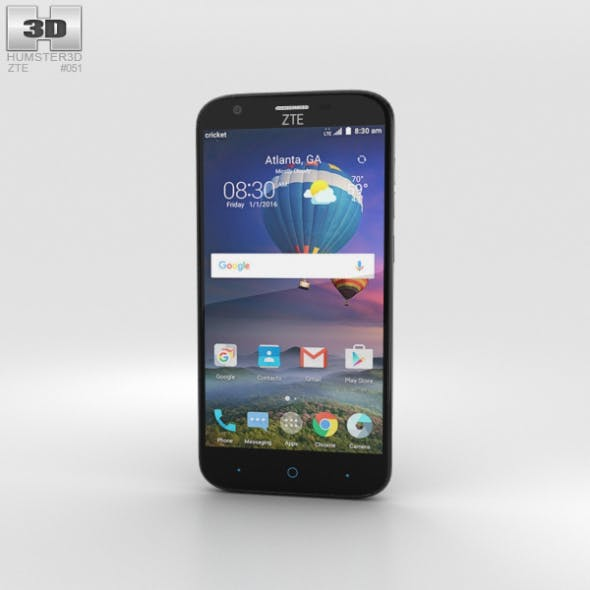 ZTE Grand X 3 Black - 3DOcean Item for Sale