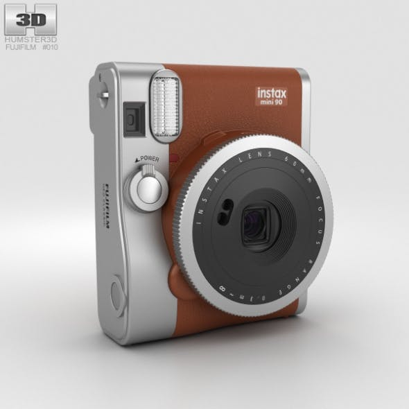 Fujifilm Instax Mini 90 Brown - 3DOcean Item for Sale