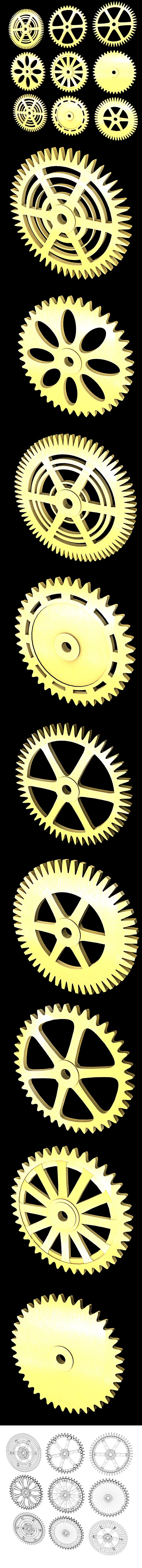 Different gears 3D Models & 3D Printers - 3DOcean Item for Sale
