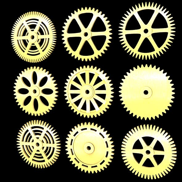 Different gears 3D Models & 3D Printers