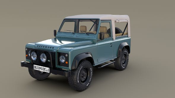 1985 Land Rover Defender 90 with interior ver 1 - 3DOcean Item for Sale