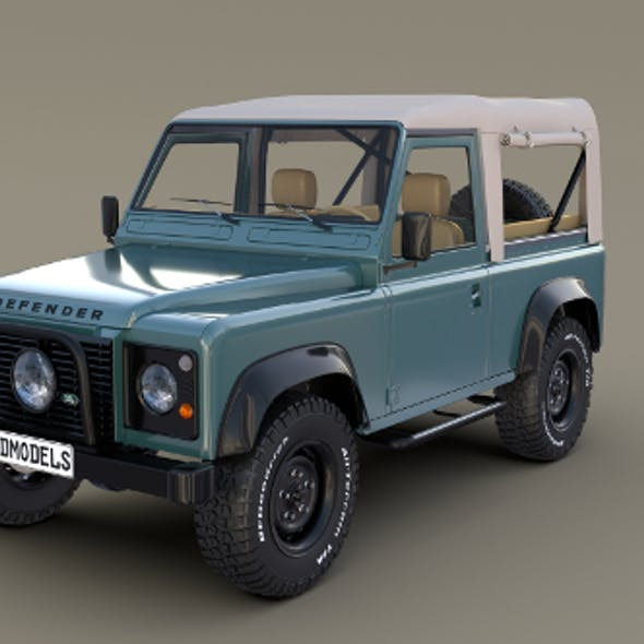 1985 Land Rover Defender 90 with interior ver 1