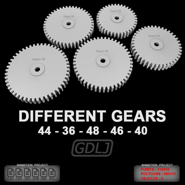 5 Different gears