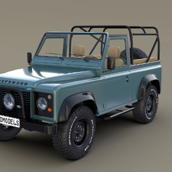 1985 Land Rover Defender 90 with interior ver 3