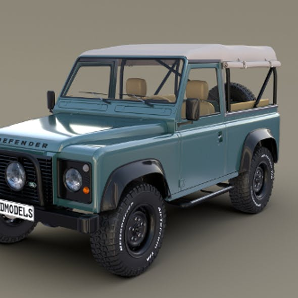 1985 Land Rover Defender 90 with interior ver 4