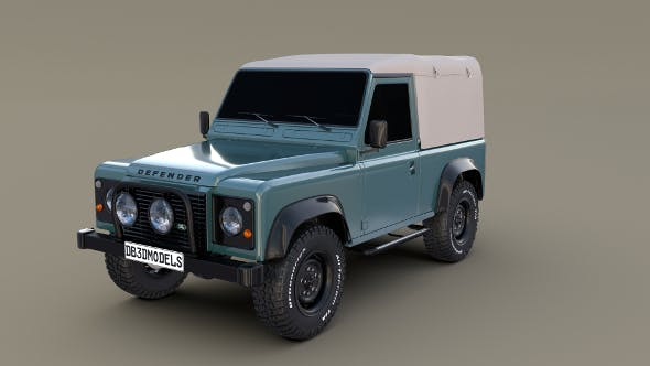 1985 Land Rover Defender 90 - 3DOcean Item for Sale