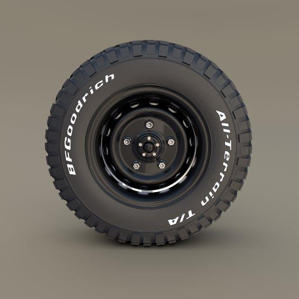Offroad BF Goodrich Wheel - 3DOcean Item for Sale