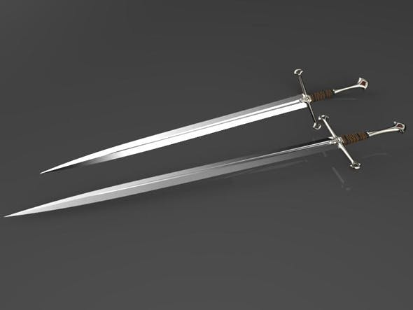 Anduril king Aragon`s  sword - 3DOcean Item for Sale