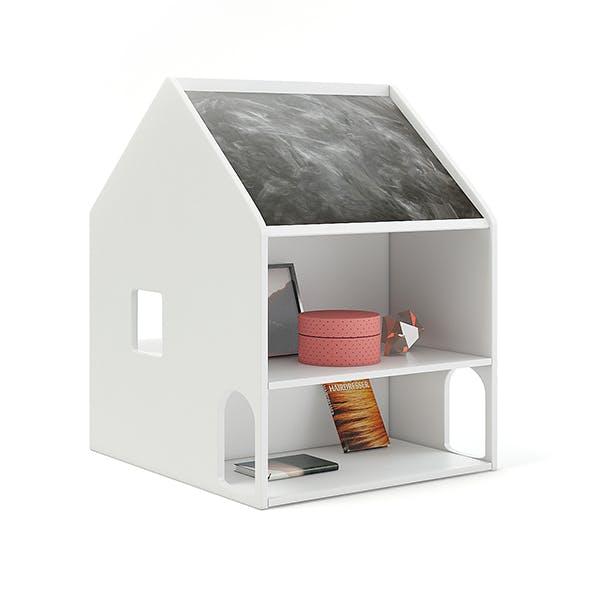 House Shape Shelf with Blackboard - 3DOcean Item for Sale