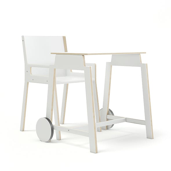 Children's Desk and Chair - 3DOcean Item for Sale