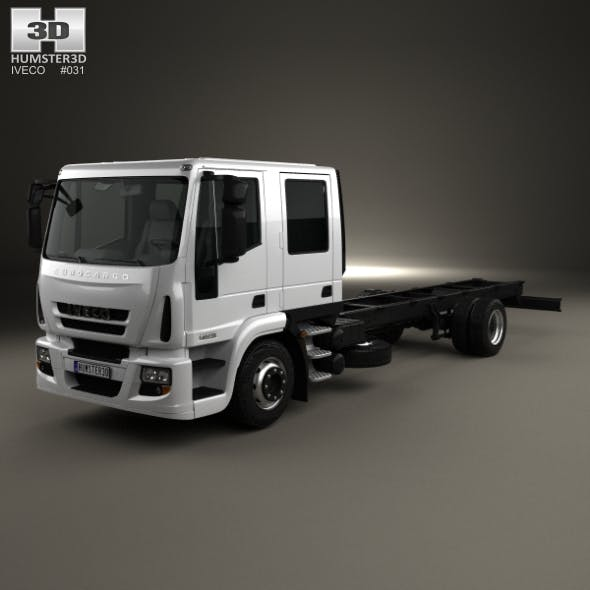 Iveco EuroCargo Double Cab Chassis Truck 2008 - 3DOcean Item for Sale