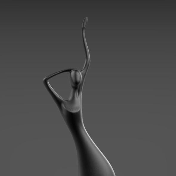 Sculpture of a girl