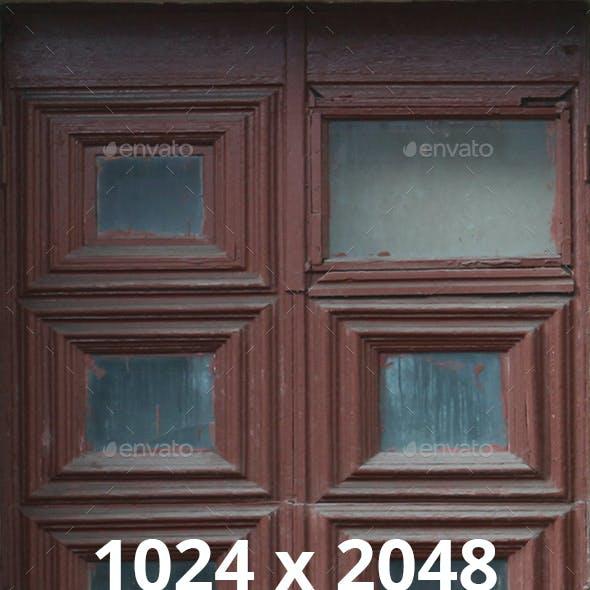 Old Dirty Brown Wooden Doors