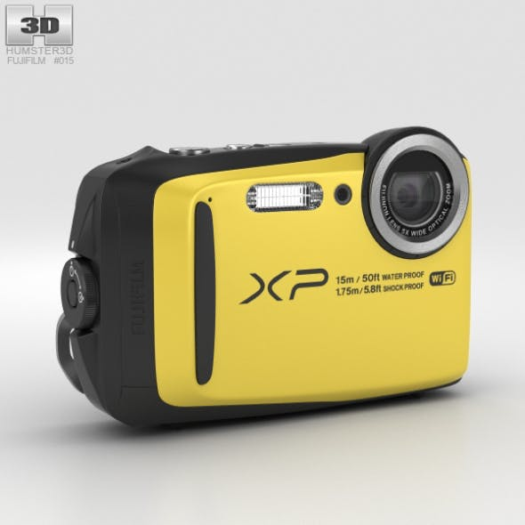 Fujifilm FinePix XP90 Yellow - 3DOcean Item for Sale