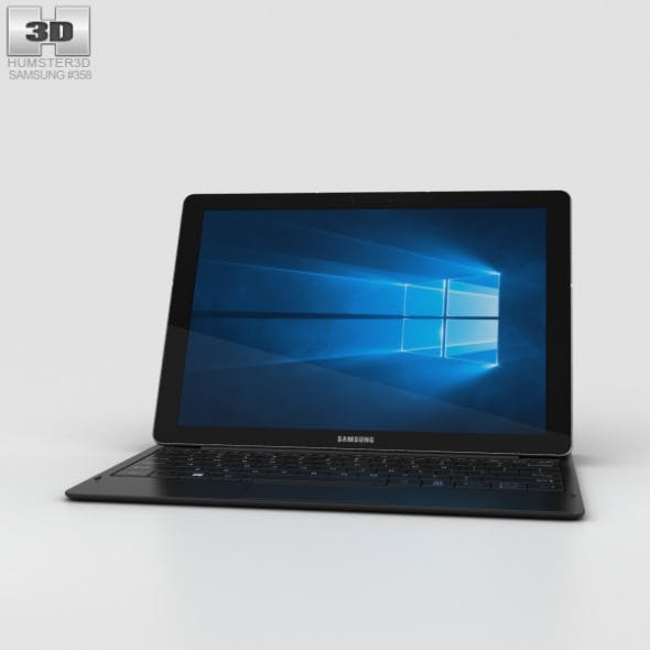 Samsung Galaxy TabPro S Black - 3DOcean Item for Sale