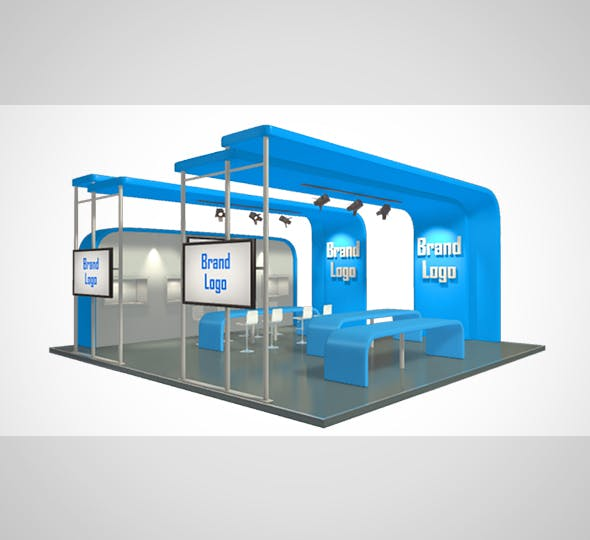 Stand Design 001 - 3DOcean Item for Sale