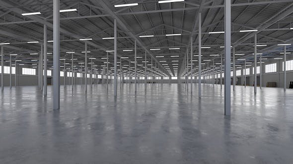 Industrial Building Interior 5b - 3DOcean Item for Sale