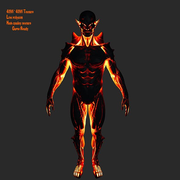 fire monster - 3DOcean Item for Sale