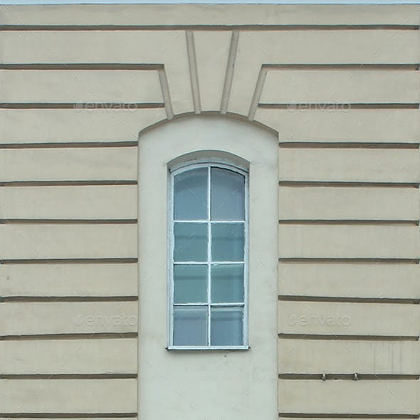 Classic Facade Wall with Windows