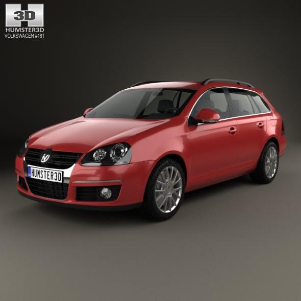Volkswagen Golf Variant 2007 - 3DOcean Item for Sale
