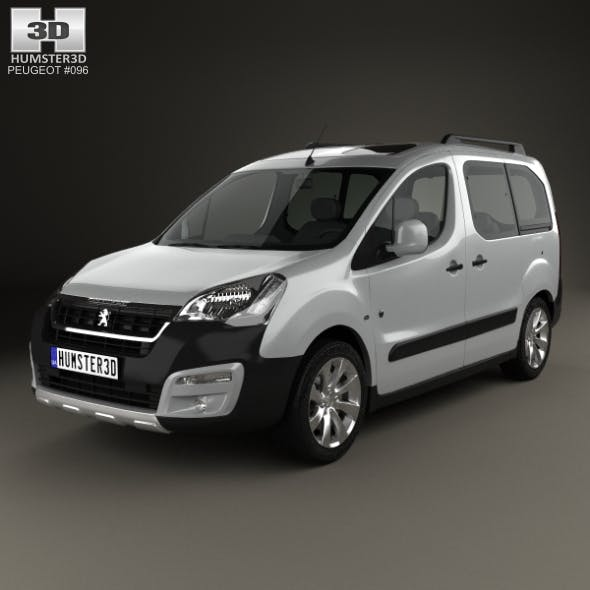 Peugeot Partner Tepee Outdoor 2015 - 3DOcean Item for Sale