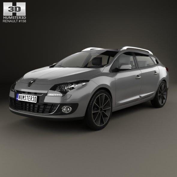 Renault Megane Estate 2012 - 3DOcean Item for Sale